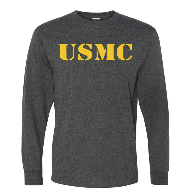 CLOSEOUT Gold USMC Long Sleeve T-Shirt - Marine Corps Direct