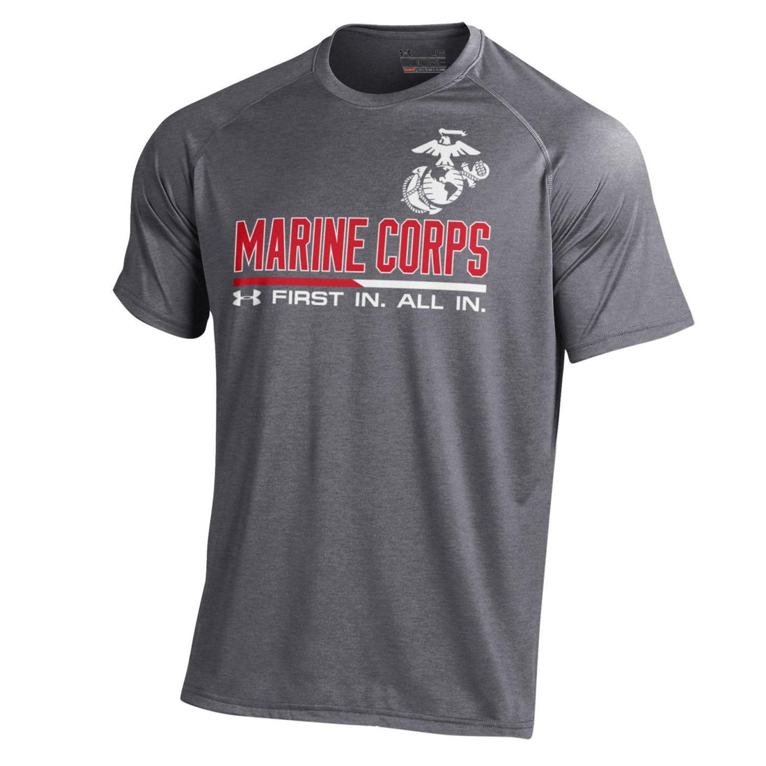 Under Armour First In All In Performance Gray Tee