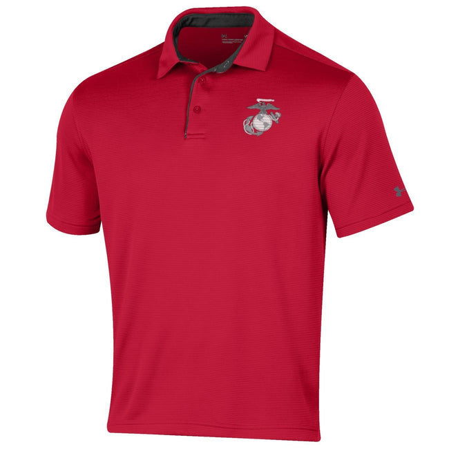 CLOSEOUT Under Armour Marines Tech Polo Red