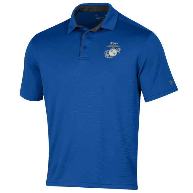 Under Armour Marines Tech Performance Polo Royal