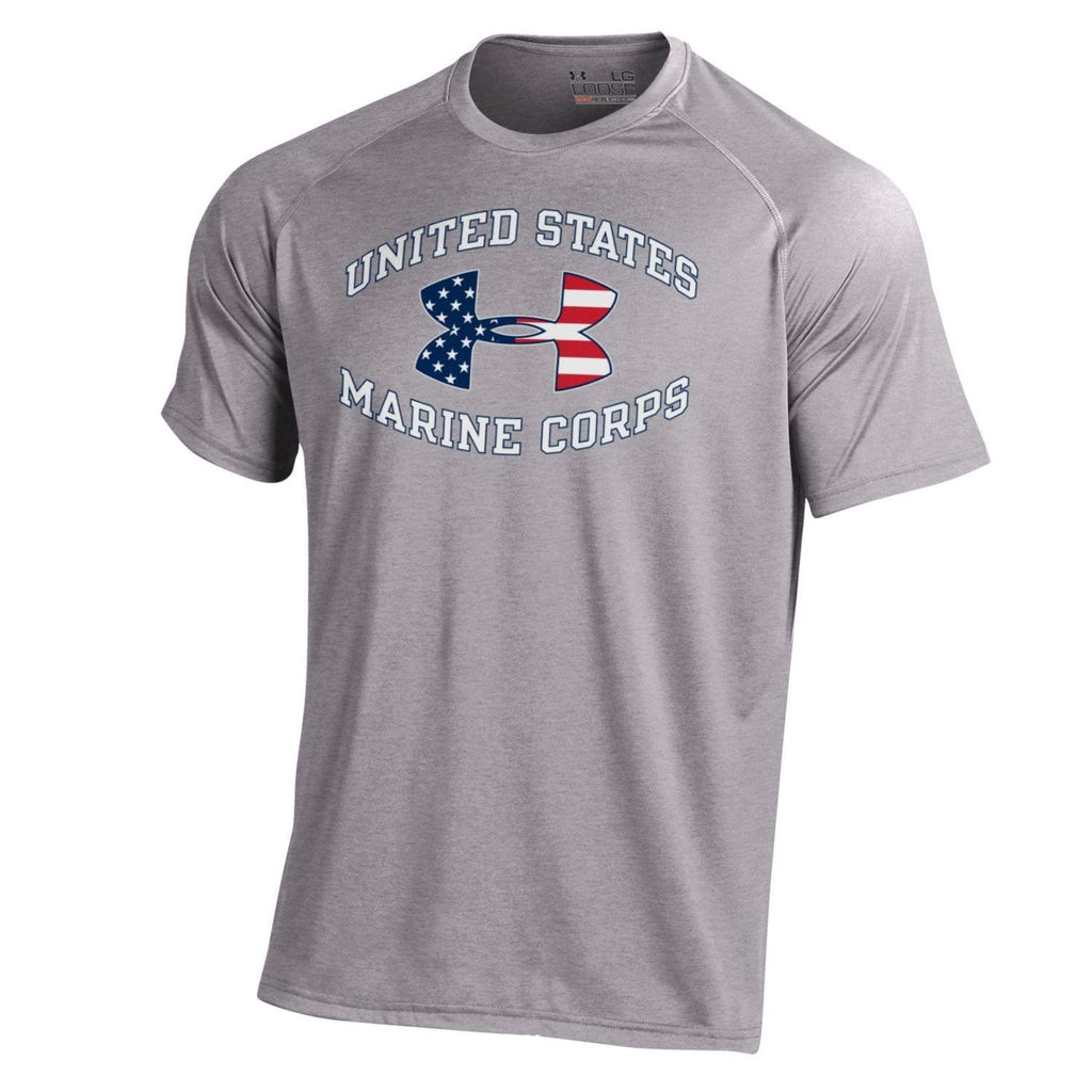 Under Armour Flag w/ United State Marine Tee