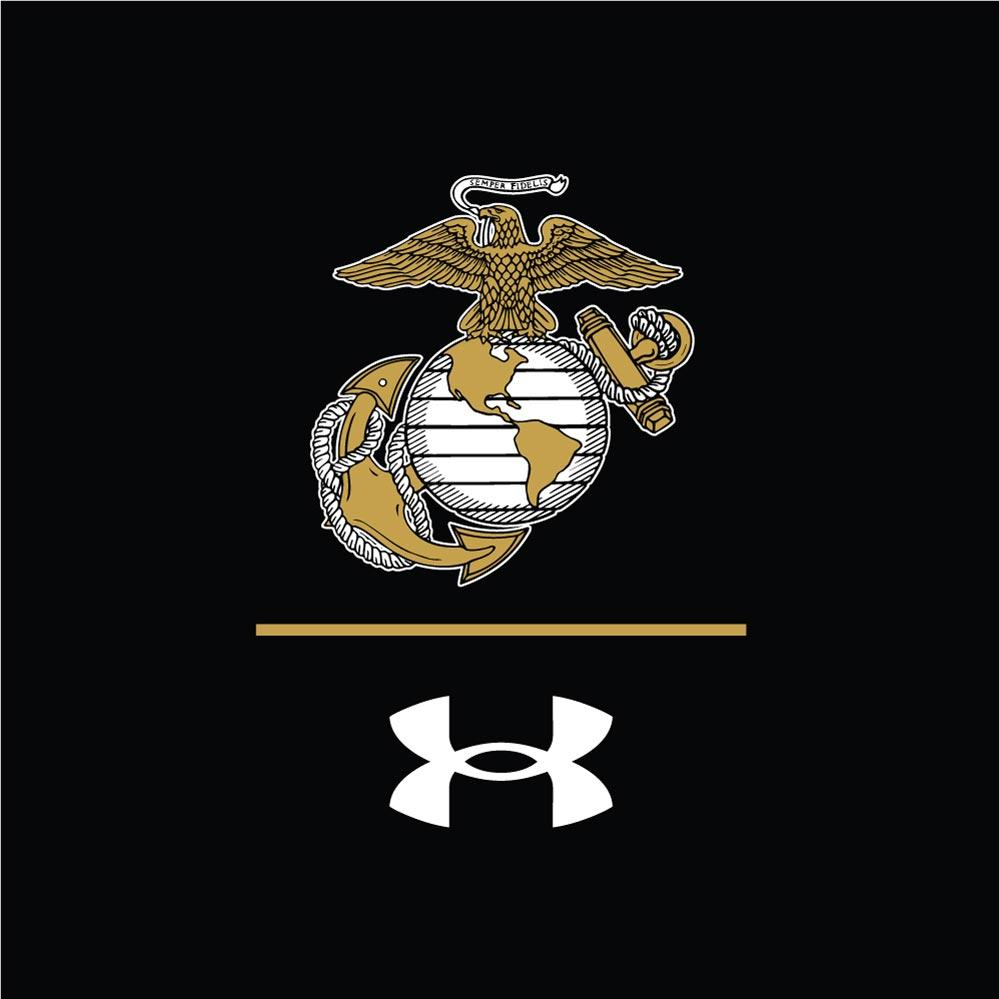 Under Armour EGA LINE Chest Seal / Semper Fi Sleeve Drop Dri-Fit Performance Long Sleeve Tee - Marine Corps Direct