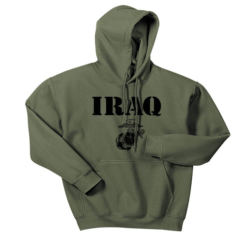 Military Green Iraq Vintage Hoodie