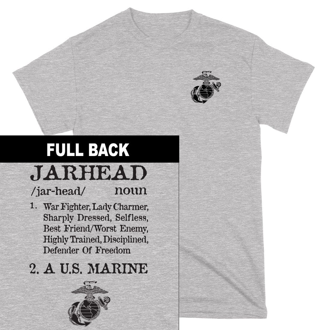 Jarhead 2-Sided T-Shirt - Marine Corps Direct