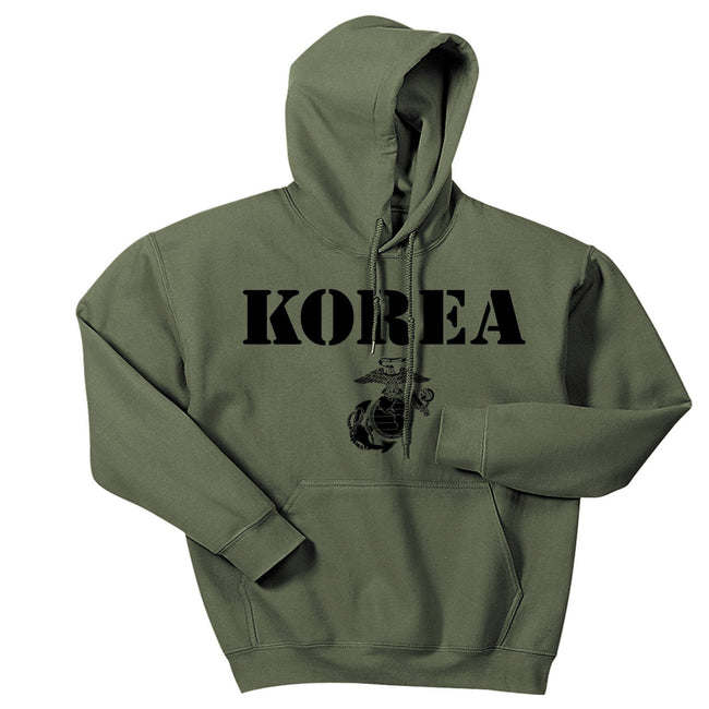 Military Green Korea Vintage Hoodie - Marine Corps Direct