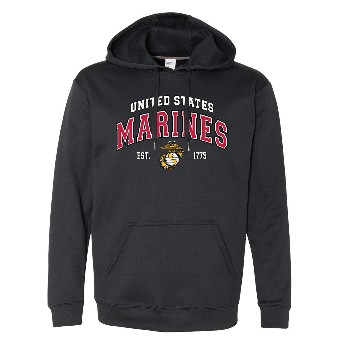 COMBAT CHARGED DRI-FIT PERFORMANCE POLY US MARINES HOODIE
