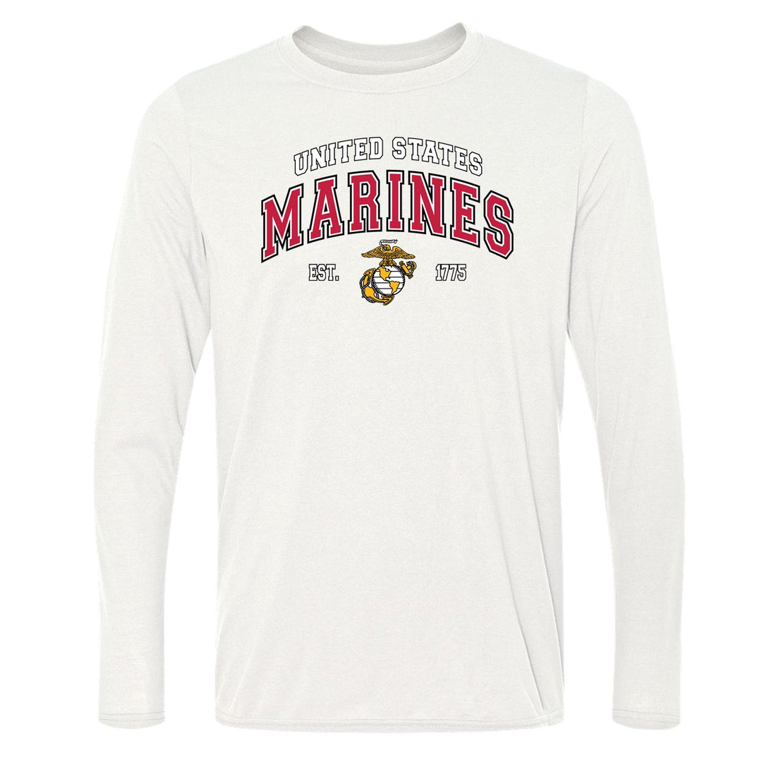 COMBAT CHARGED DRI-FIT PERFORMANCE POLY US MARINES LONG SLEEVE