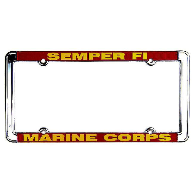 U.S. Marines Metal License Plate Frames - Marine Corps Direct