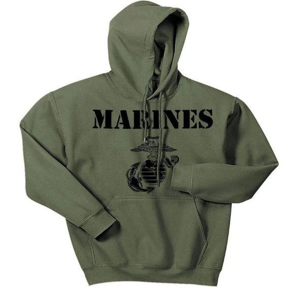Vintage Marines Hoodie (CPT's SPECIAL Extra $8 Discount)