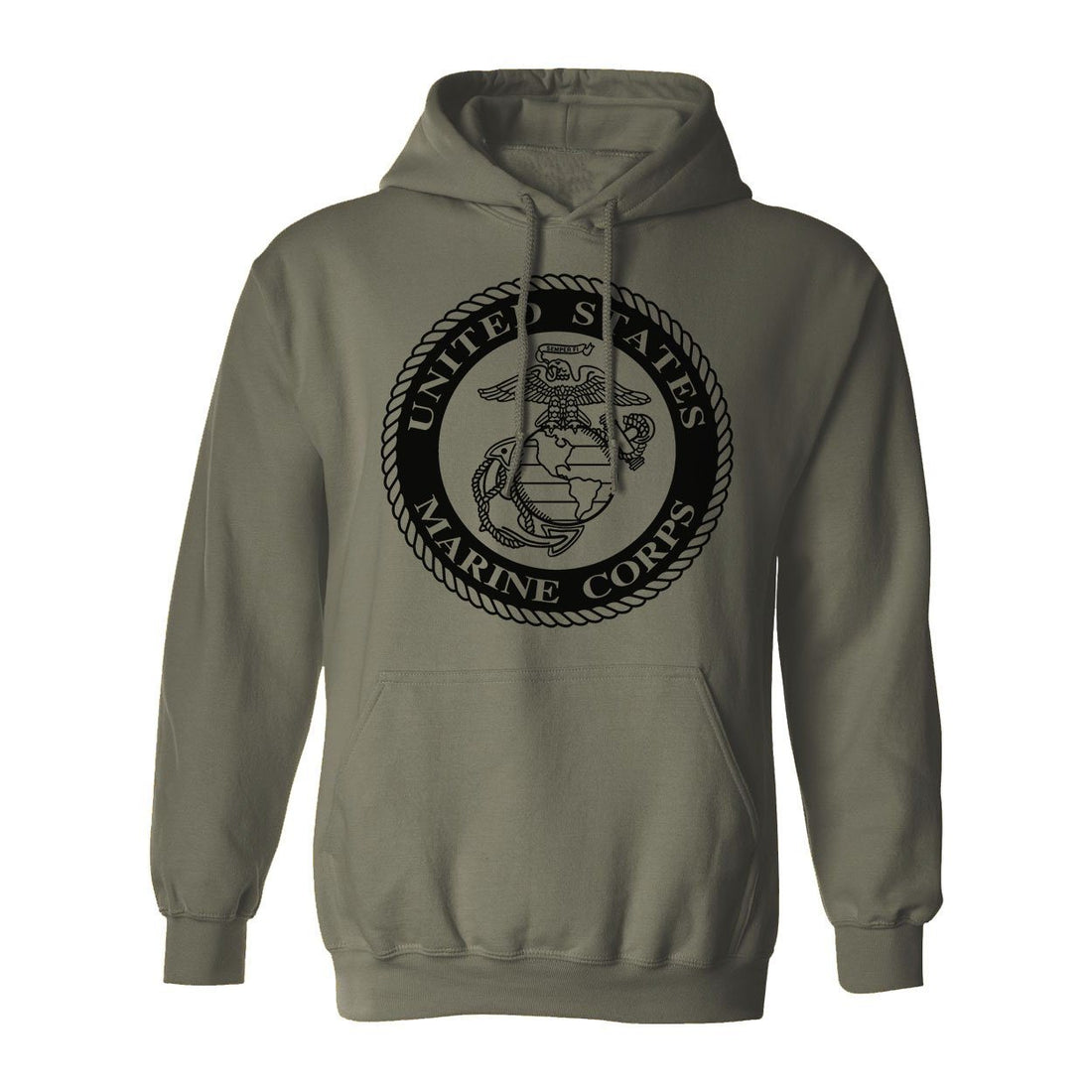Marines Classic Seal Hoodie (CPT's SPECIAL Extra $8 Discount)
