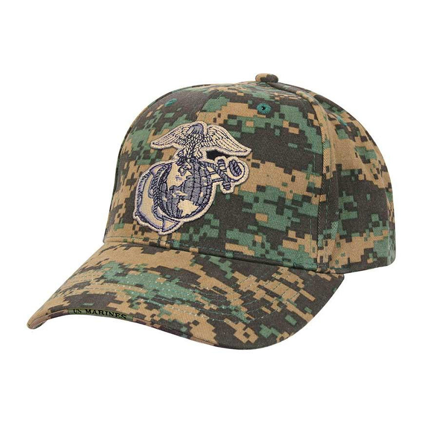 Rothco HAT Woodland Digital Globe & Anchor Cap - Marine Corps Direct