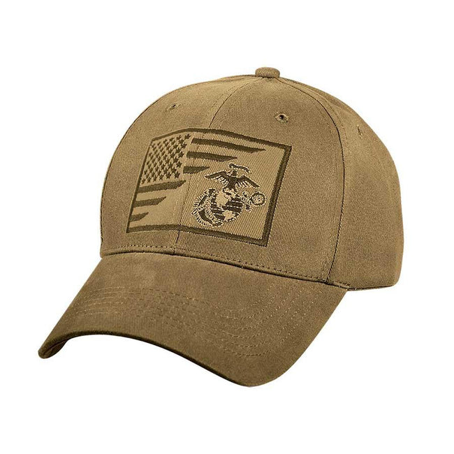 MARINE CORPS RETIRED FLAG EMBROIDERED MILITARY  HAT CAP