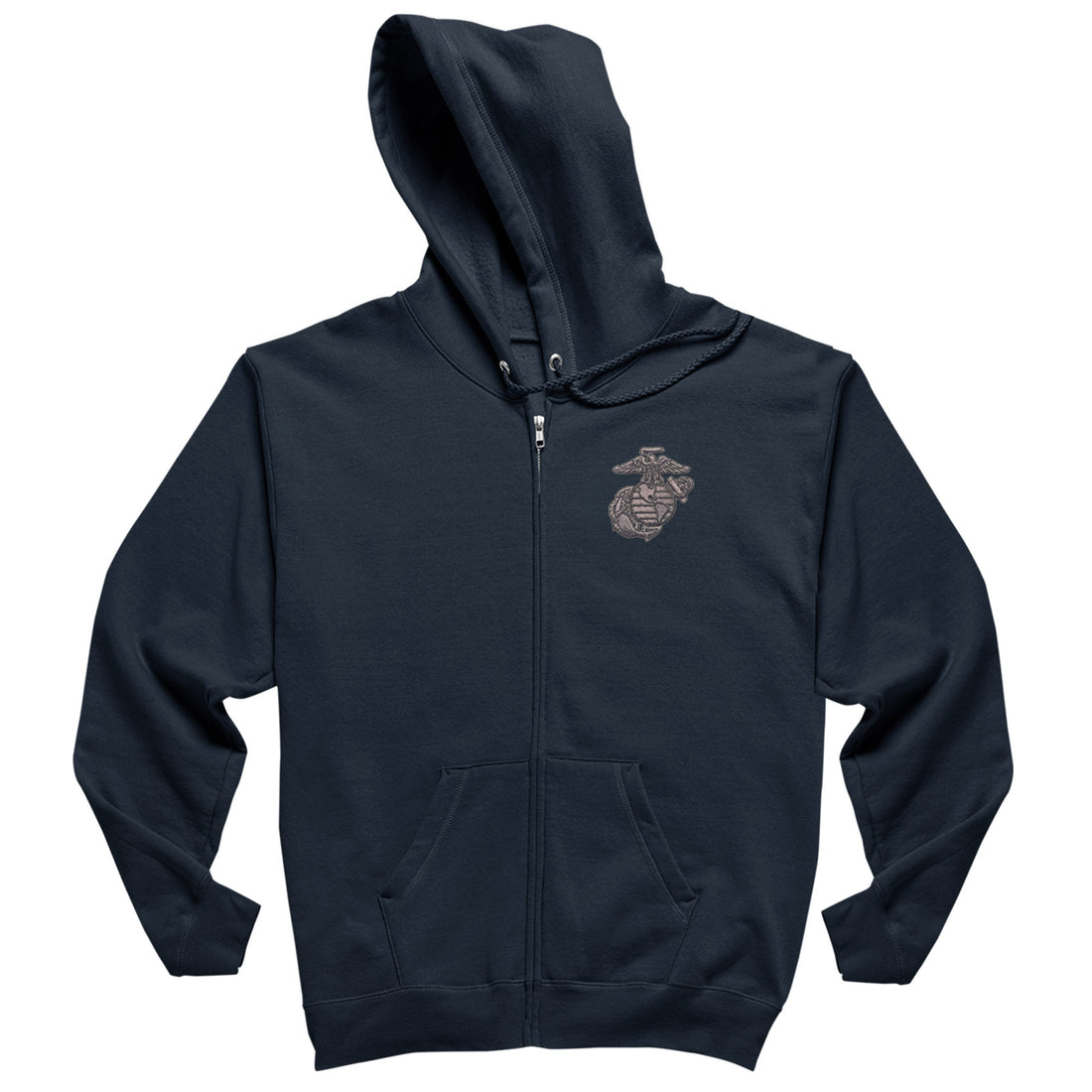 Metal EGA Embroidered Heavy Blend™ Full-Zip USMC Hoodies - Marine Corps Direct