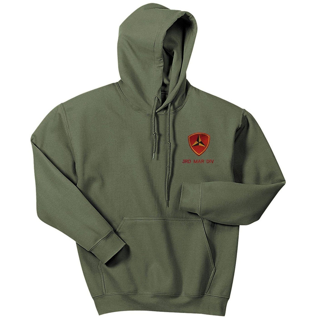 3rd Mar Div Embroidered Hoodie - Marine Corps Direct