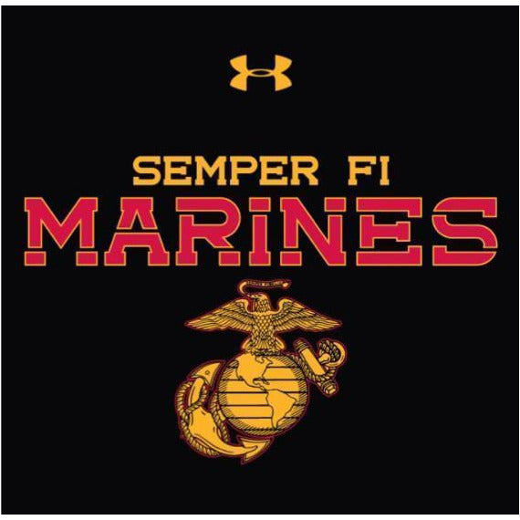 Under Armour Original MARINES 2-SIDED Semper Fi Large Back Long Sleeved Tee (Limited Sizes)