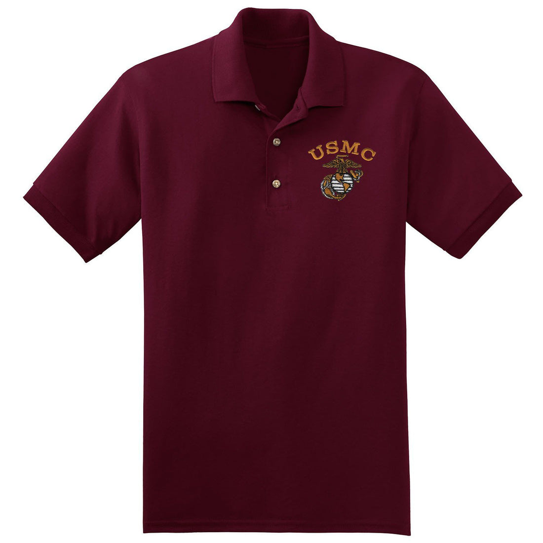 USMC Embroidered Polo (MULTIPLE COLORS) - Marine Corps Direct  - 3
