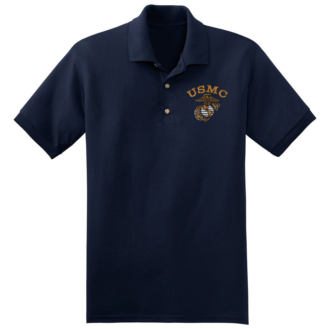 USMC Embroidered Polo (MULTIPLE COLORS) - Marine Corps Direct  - 2