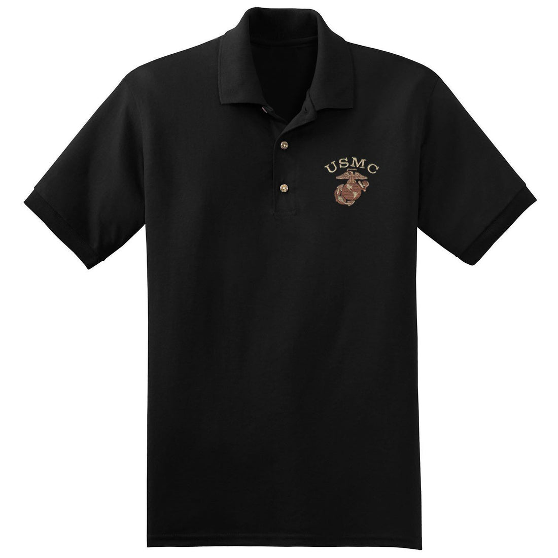 USMC Desert Embroidered Polo (MULTIPLE COLORS) - Marine Corps Direct  - 2