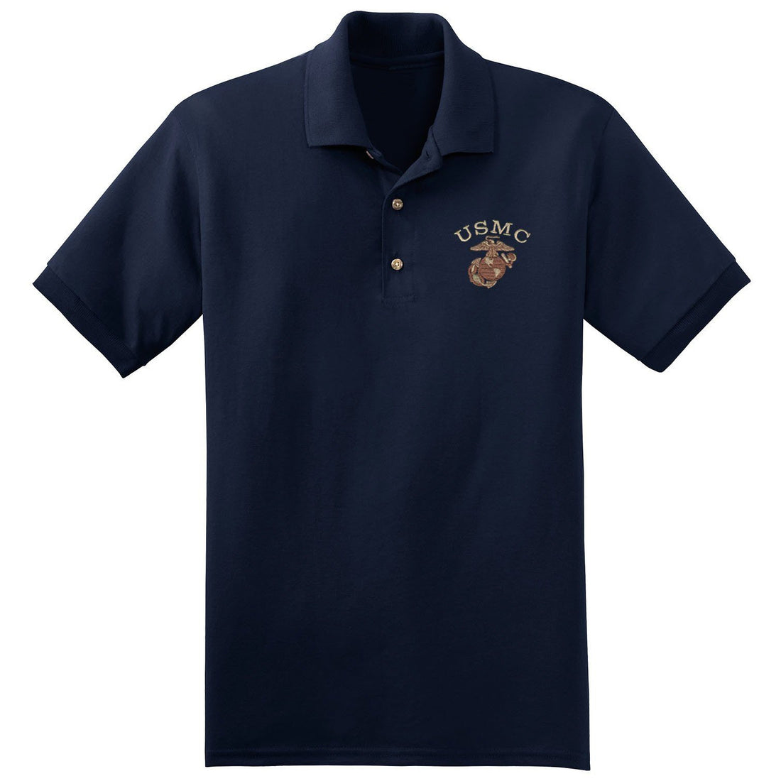 USMC Desert Embroidered Polo (MULTIPLE COLORS) - Marine Corps Direct  - 7
