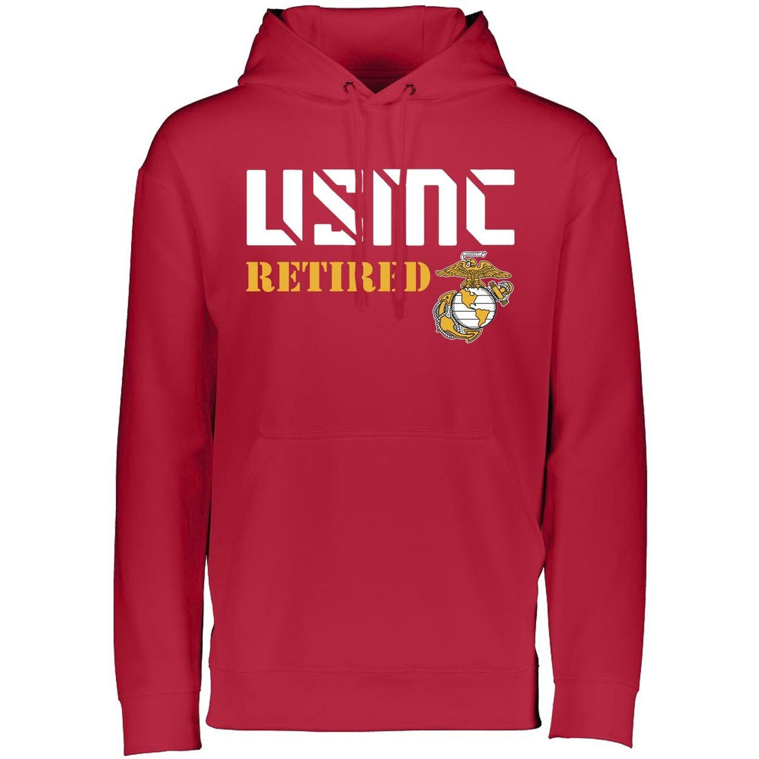 USMC Retired Dri-Fit Performance Hoodie - Marine Corps Direct