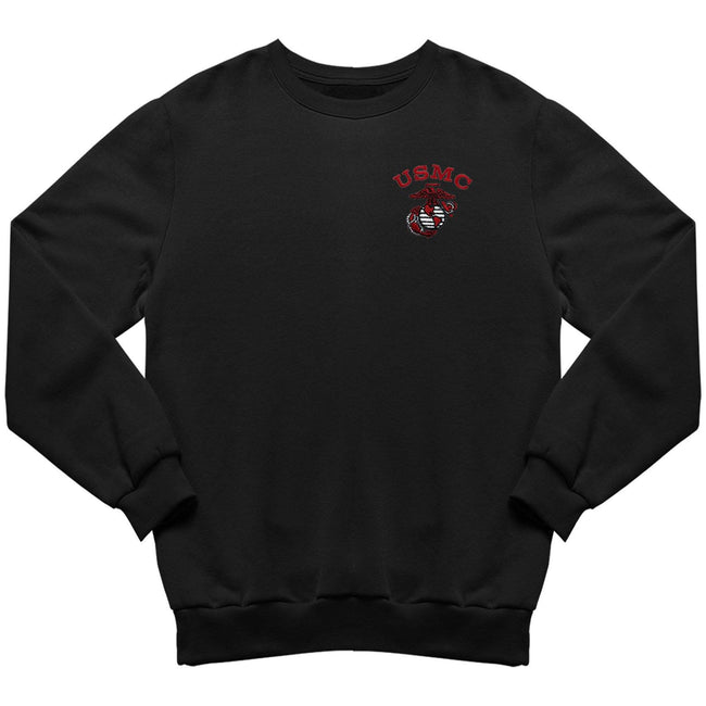 Red USMC EGA Embroidered Sweatshirt - Marine Corps Direct