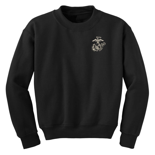 Silver New EGA with USMC Embroidered Sweatshirt