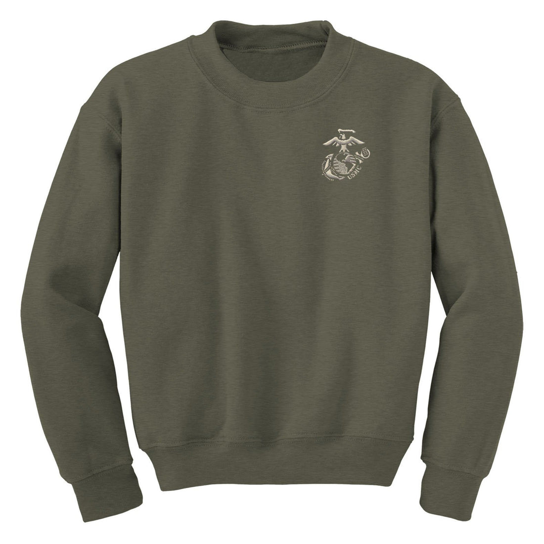 Silver EGA with USMC Embroidered Sweatshirt