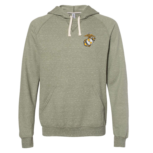 Military Green Snow Heather EGA Hoodie