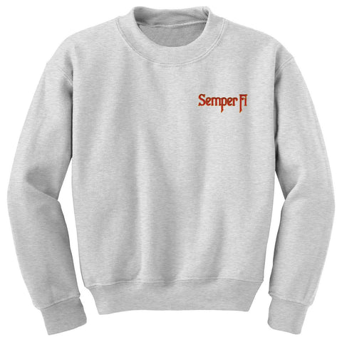 SEMPER FI EMBROIDERED SWEATSHIRT