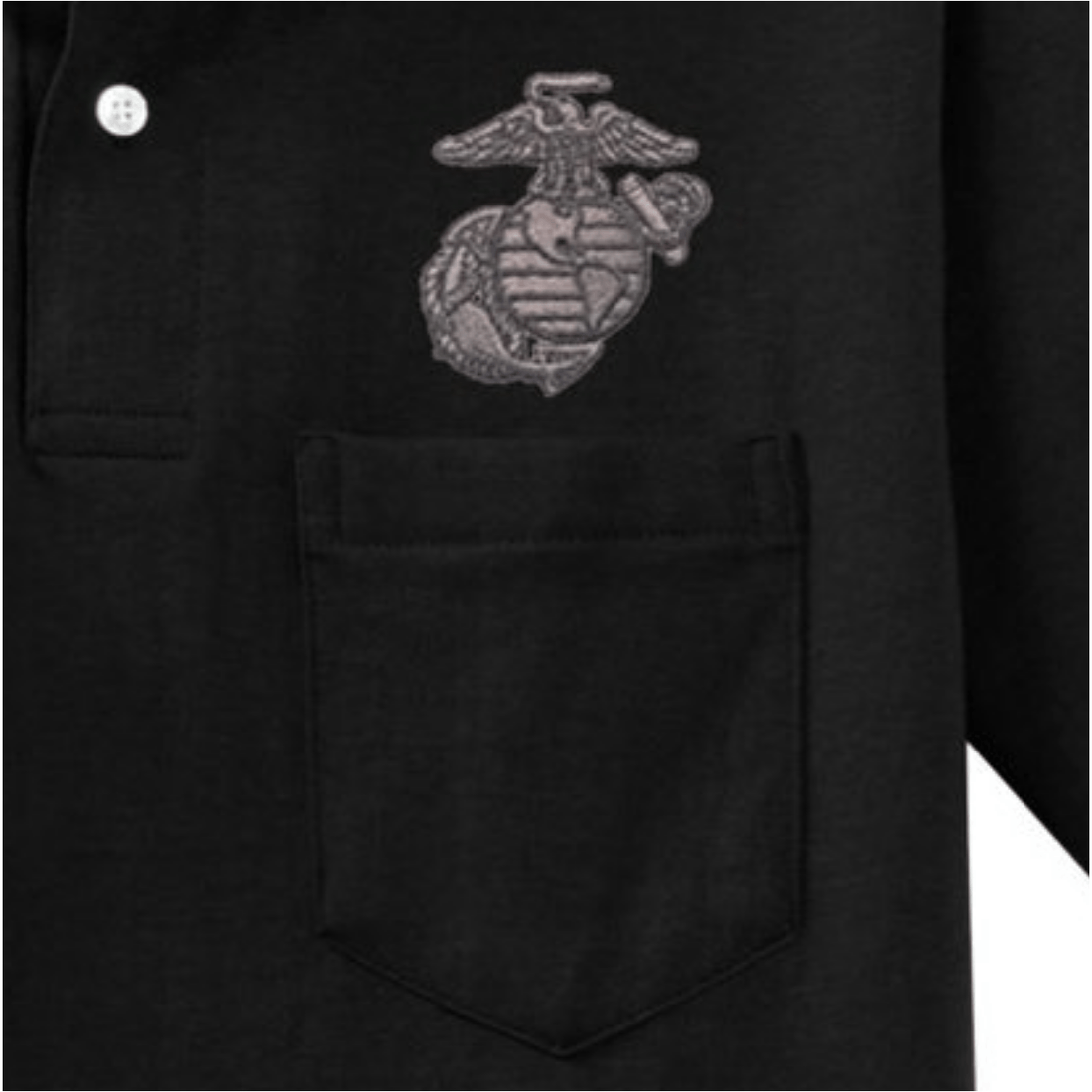 Gunmetal EGA Embroidered Pocket Polo