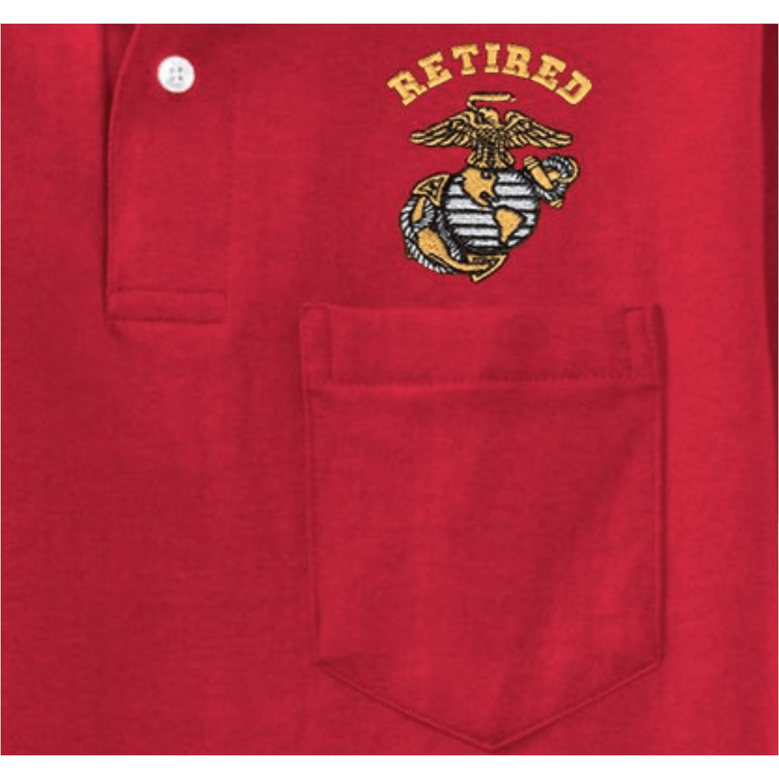 Retired EGA Embroidered Pocket Polo