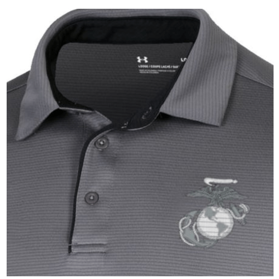 Under Armour Marines Tech Polo Storm Gray