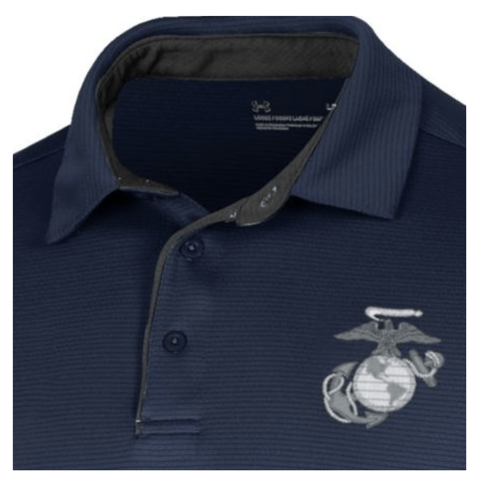 Under Armour Marines Tech Polo Midnight Navy