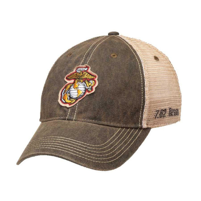 HAT USMC EGA Vintage Trucker Hat Black - Marine Corps Direct