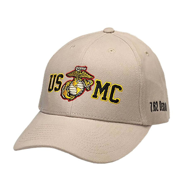 Hat USMC Gold Outline Twill Hat- Tan - Marine Corps Direct