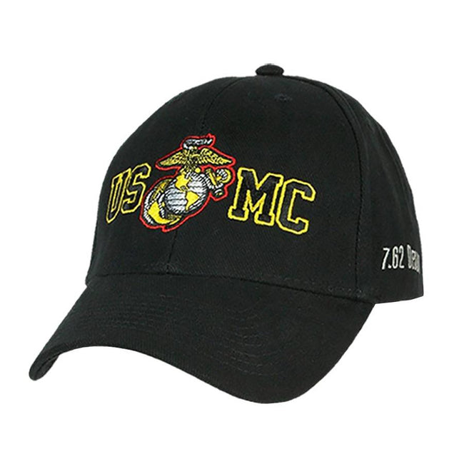 Hat USMC Gold Outline Twill Hat - Black - Marine Corps Direct