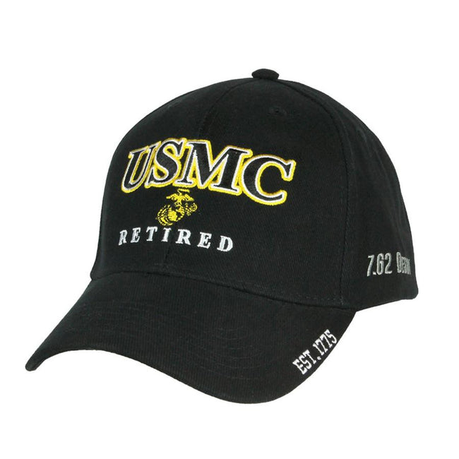 HAT USMC Retired Hat - Black & Gold - Marine Corps Direct
