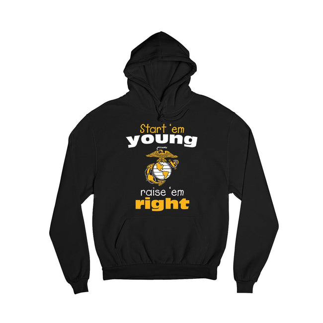 Start'em Young, Raise'em Right Youth Hoodie - Marine Corps Direct
