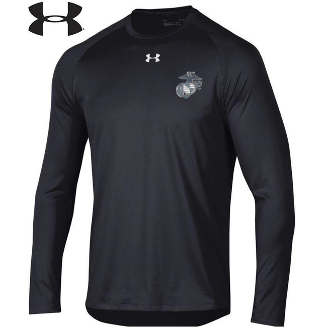 Under Armour EGA Chest Seal Dri-Fit Performance Long Sleeve Tee - Marine Corps Direct
