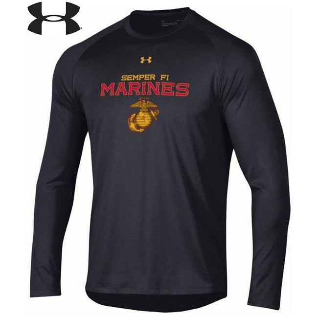 Under Armour Original Marines Dri-Fit Performance Long Sleeve Tee - Marine Corps Direct