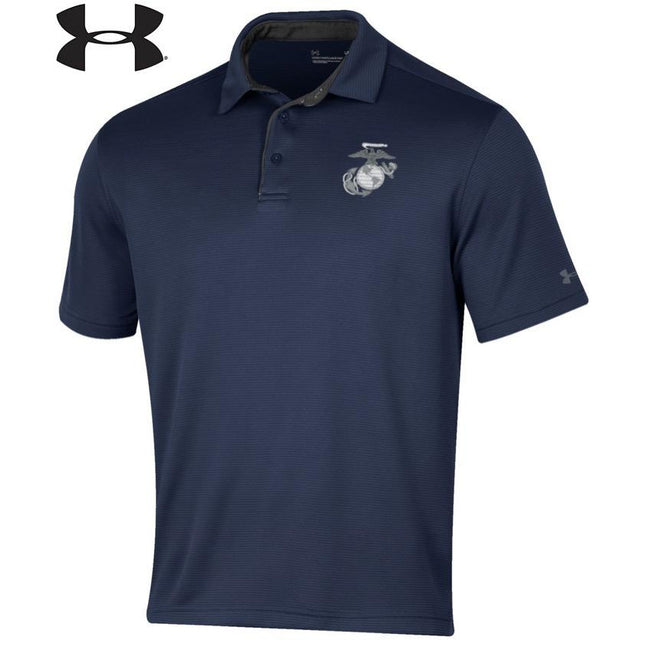 Under Armour Marines Tech Performance Polo Midnight Navy - Marine Corps Direct