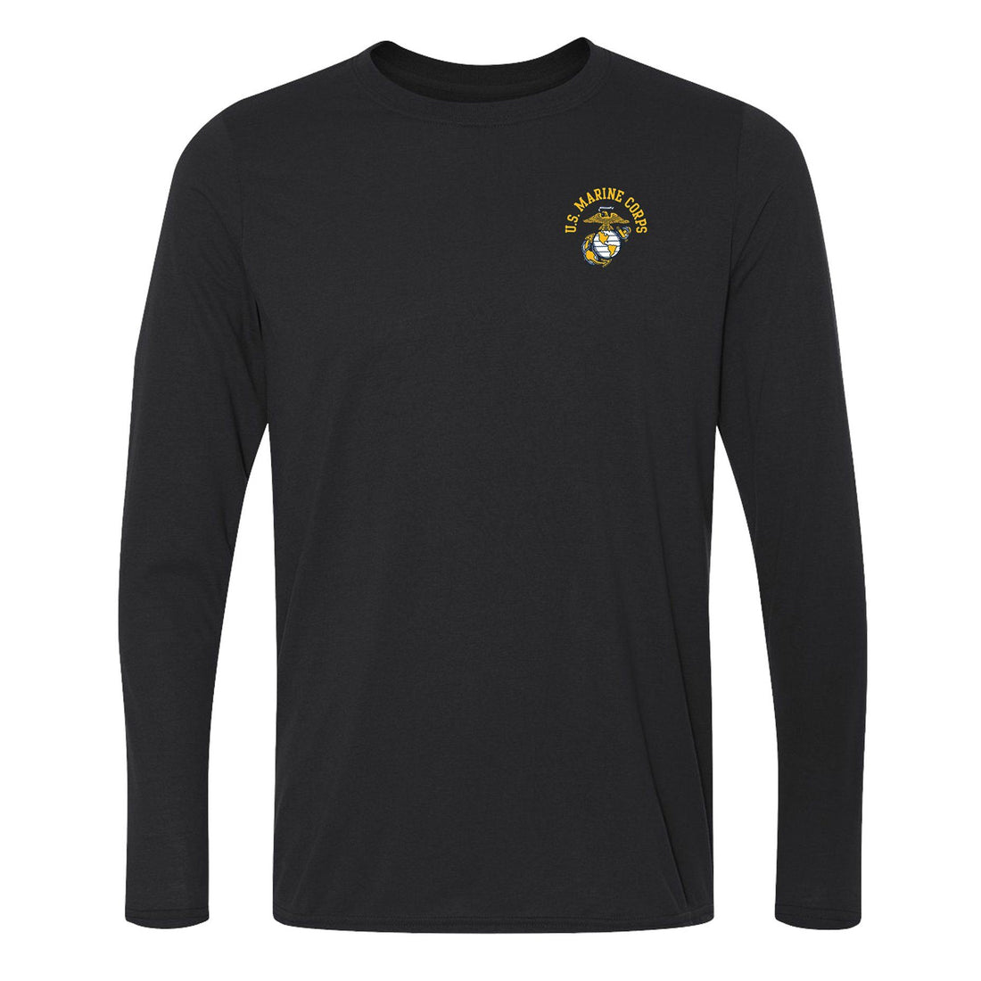 COMBAT CHARGED Dri-Fit Performance Poly U.S. EGA Long Sleeve - Marine Corps Direct