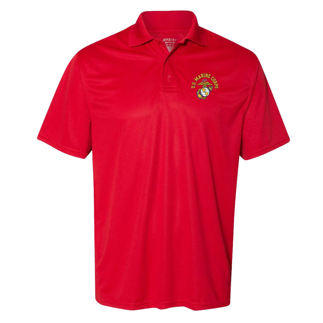 COMBAT CHARGED US Marine Corps EGA Screen Printed Dri-Fit Performance Polo - Marine Corps Direct