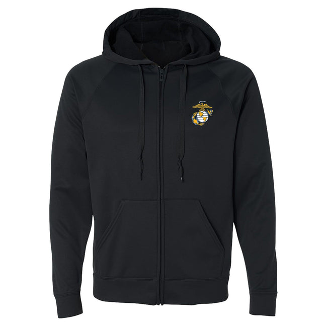 COMBAT CHARGED DRI-FIT PERFORMANCE POLY EGA FULL-ZIP HOODIE