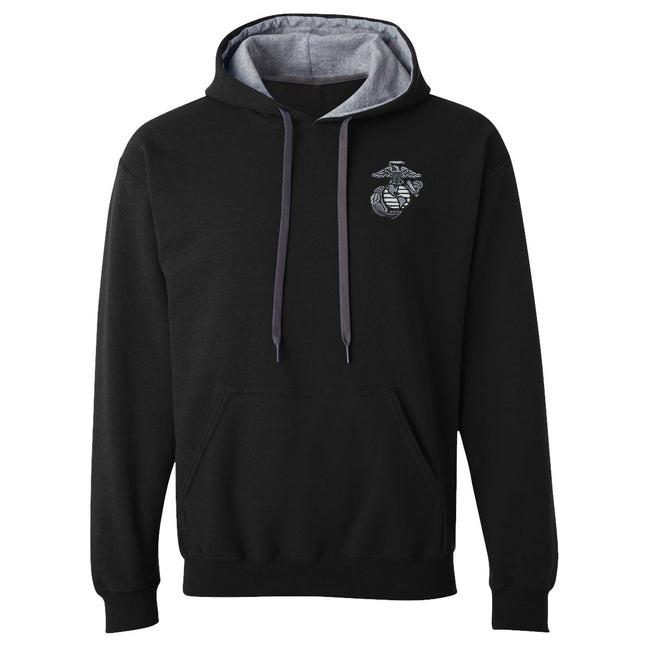 Classic EGA Embroidered Heavy Blend™ Contrast Hooded Sweatshirt
