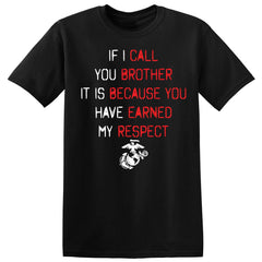 If I Call You Brother Tee  (MULTIPLE COLORS) - Marine Corps Direct  - 3