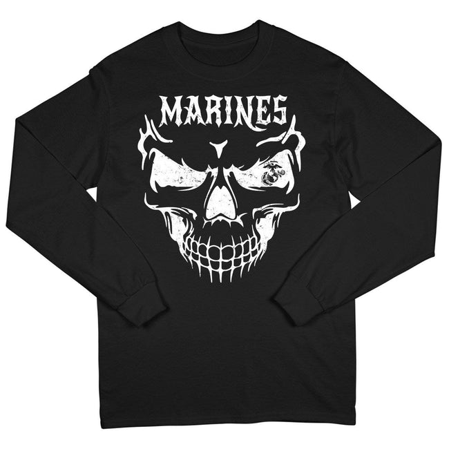 Under Armour  U.S. Marine Corps 2-SIDED Semper Fi Black Long Sleeved Tee