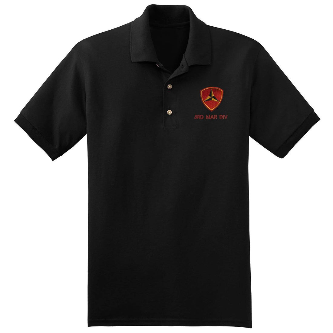 3rd Mar Div Embroidered Polo - Marine Corps Direct