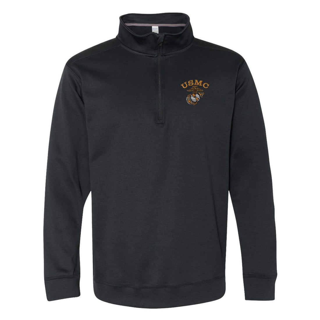 Tonal USMC EGA Embroidered Performance® Tech Quarter-Zip Pullover Sweatshirt