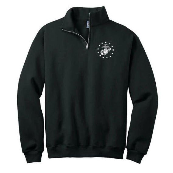 Marines NuBlend® 1/4-Zip Cadet Collar Sweatshirt - Marine Corps Direct